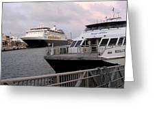 From The Ferry Dock Greeting Card
