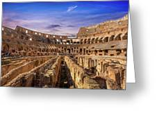 From The Floor Of The Colosseum Greeting Card