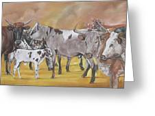From The Grazing Fields Greeting Card
