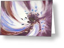 From The Heart Of A Flower Brown 2 Greeting Card