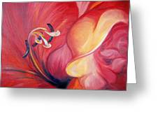 From The Heart Of A Flower Red Greeting Card