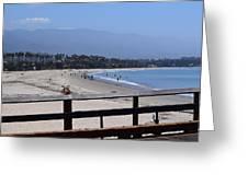 From The Santa Barbara Pier Greeting Card