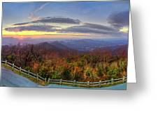From The Top Of Brasstown Bald Greeting Card