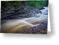 From The Top Of Temperence River Gorge Greeting Card