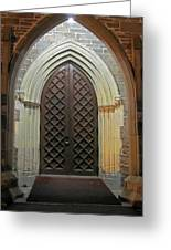Front Door Christ Church Cathedral 4 Greeting Card