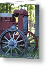 Front End Of A Mccormic Deering Tractor Greeting Card