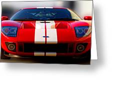 Front Ford Gt Greeting Card
