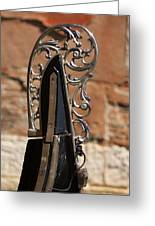 Front Piece Of Gondola In Venice Greeting Card