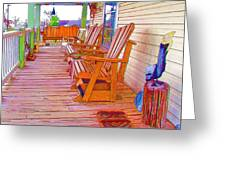 Front Porch On An Old Country House  1 Greeting Card