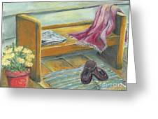 Front Porch Shoes Greeting Card