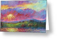 Front Range Sunset Greeting Card