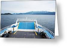 Front Side Of A Ferry  Greeting Card