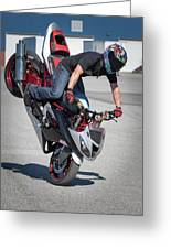 Front Wheelie Greeting Card