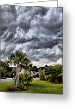 Frontal Clouds Greeting Card