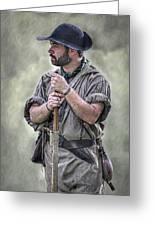 Frontiersman Ranger Scout Portrait Greeting Card by Randy Steele