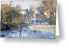 Frost Greeting Card by Claude Monet