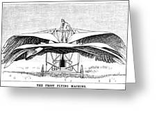 Frost Flying Machine, 1891 Greeting Card