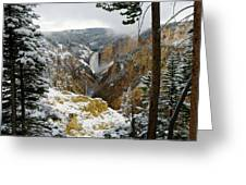 Frosted Canyon Greeting Card