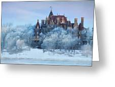 Frosted Castle Greeting Card by Lori Deiter