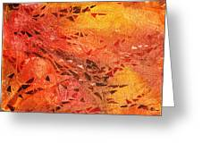 Frosted Fire I Greeting Card
