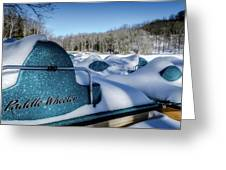 Frosted Paddleboats Greeting Card