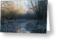 Frosted Riverbank Greeting Card
