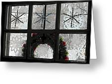 Frosted Windowpanes Greeting Card