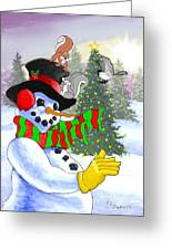Frosty And Friends Greeting Card