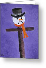 Frosty Cross Greeting Card