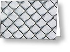 Frosty Fence Greeting Card