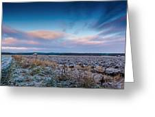 Frosty Fields Greeting Card