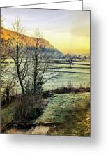 Frosty Morning Light Greeting Card