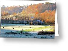 Frosty Morning On The Farm Greeting Card