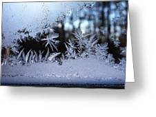 Frosty Morning Window Greeting Card