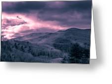 Frosty Mountain Sunrise Greeting Card