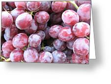 Frosty Purple Grapes Greeting Card