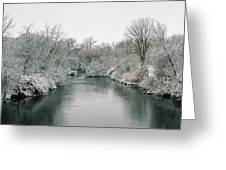 Frosty River Greeting Card