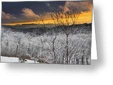 Frosty Sunset Greeting Card