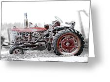 Frosty Tractor Greeting Card