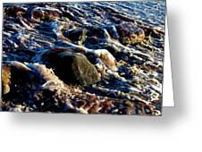 Froth On Rocks Greeting Card