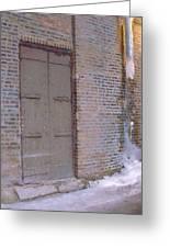 Frozen Alley II Greeting Card