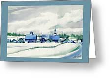 Frozen Aqua Greeting Card