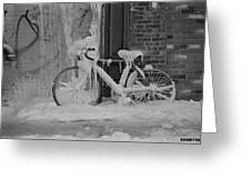 Frozen Bike Greeting Card