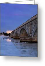 Frozen Bridges Greeting Card