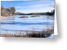 Frozen Bryant Pond Greeting Card
