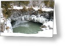 Frozen Cave Point Greeting Card