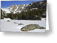 Frozen Colorado  Greeting Card