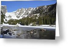 Frozen Colorado Lake Greeting Card