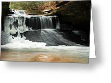 Frozen Creation Falls Greeting Card