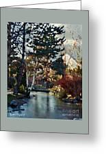 Frozen Creek II Painting Greeting Card